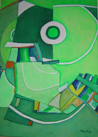 "Mini-image of the abstract painting ""Green-Light"", artist - Marek Petryk."