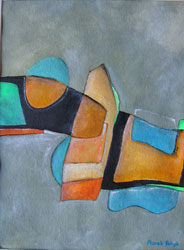 "Mini-image of the abstract painting ""Case"", artist - Marek Petryk."